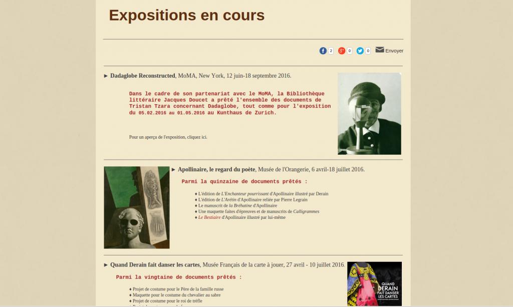 "Les expositions ""hors les murs"" de la BLJD"