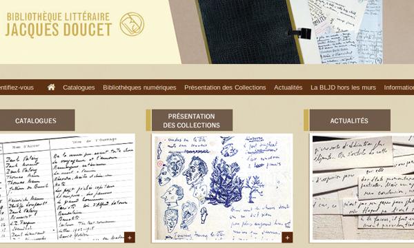 La bibliothèque Jacques Doucet ouvre ses recueils à tous avec Mnesys