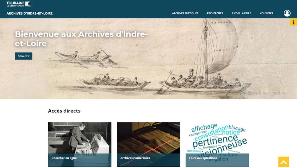 site internet des archives départementales d'Indre-et-Loire
